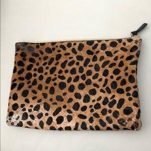 Clare V Flat Clutch Leopard
